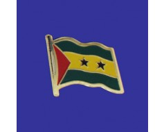 Sao Tome & Principe Lapel Pin (Single Waving Flag)
