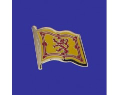 Scotland Lion Lapel Pin (Single Waving Flag)