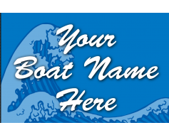 Custom Wave Boat Flag
