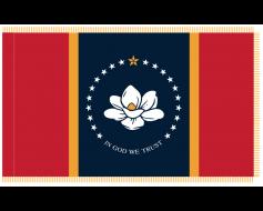Indoor Mississippi State Flag - NEW DESIGN
