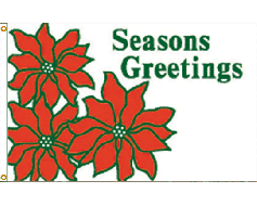 Seasons Greetings Flag - 3x5'