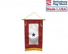 "Service Star Banner (1 Blue Star) - 8x14"""