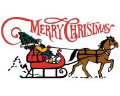 Sleigh, Merry Christmas Flag - 3x5'