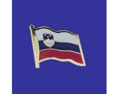 Slovenia Lapel Pin (Single Waving Flag)