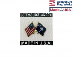 South Carolina State Flag Lapel Pin (Double Waving Flag w...