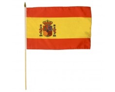 Spain Stick Flag (with Seal)