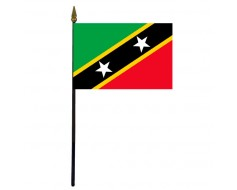 St. Kitts-Nevis Stick Flag - 4x6""