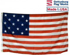 Star Spangled Banner 15 Stars & 15 Stripes Historical Flag,