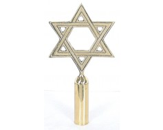 Star of David Gold Finial