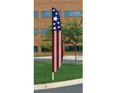 Stars & Stripes 1 Feather Flag 12'x26""