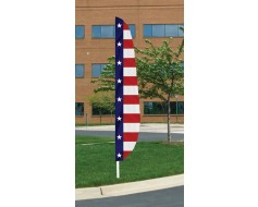 Stars & Stripes 2 Feather Flag 12'x26""