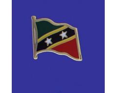 St Chris-Nevis Lapel Pin (Single Waving Flag)