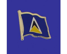 St Lucia Lapel Pin (Single Waving Flag)