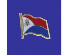 St Maarten Lapel Pin (Single Waving Flag)