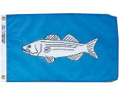 "Striped Bass Flag - 12x18"""