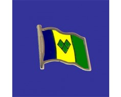 St Vincent & the Grenadines Lapel Pin (Single Waving Flag)