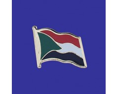 Sudan Lapel Pin (Single Waving Flag)