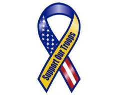 Support Troops Stars Magnet