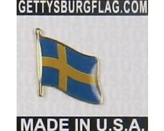 Sweden Lapel Pin (Single Waving Flag)