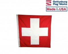 Sewn Switzerland Flag - 3x3' - Header & Grommets
