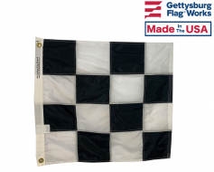 Black and White Checkered Racing Flag - Choose Options