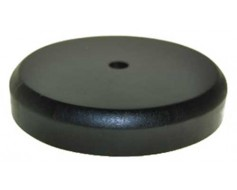 "Black wooden table base for 8x12"" stick flag, 1 hole"