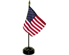 "Black Plastic Table Base for 4x6"" Flags"