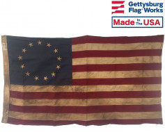 3x5' Betsy Ross Tea Stained Flag, HG