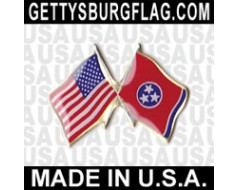 Tennessee State Flag Lapel Pin (with US Flag)