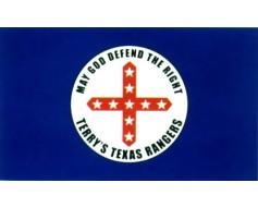 Terry's Texas Rangers Flag 1861 (May God Defend the right...