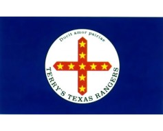 Terry's Texas Rangers Flag 1861-Yellow stars - 3x5'