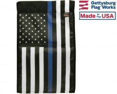 Thin Blue Line - USA Design Garden Flag