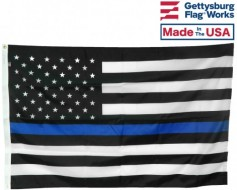 "Thin Blue Line Boat Flag 12x18"""