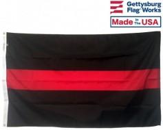 THIN RED LINE FIREMAN'S FLAG