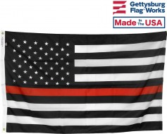 Thin Red Line USA Flag, Printed Nylon