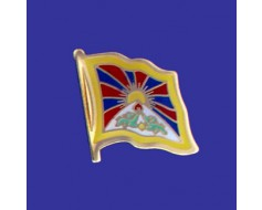 Tibet Lapel Pin (Single Waving Flag)