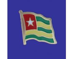 Togo Lapel Pin (Single Waving Flag)