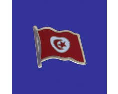 Tunisia Lapel Pin (Single Waving Flag)