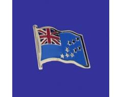 Tuvalu Lapel Pin (Single Waving Flag)