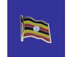 Uganda Lapel Pin (Single Waving Flag)
