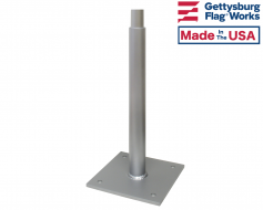 Permanent Mount Vertical Flagpole Holders - Choose Options