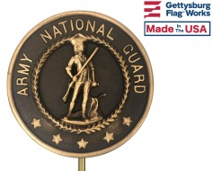 Army National Guard Bronze Grave Marker (Premium)
