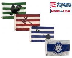 Happy Family Boat Flag Set