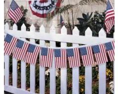"""American Flag Garland 8x12"""""""