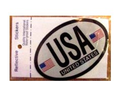 American Flag Oval Sticker