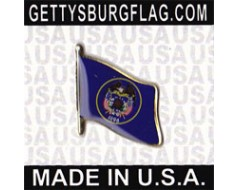 Utah State Flag Lapel Pin (Single Waving Flag)