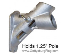 Flag Bracket 2 Position Silver 1.25""
