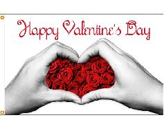 Valentine Hands Flag - 3x5'