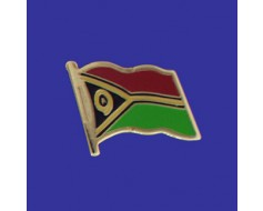 Vanuatu Lapel Pin (Single Waving Flag)