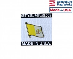 Vatican Lapel Pin (Single Waving Flag)